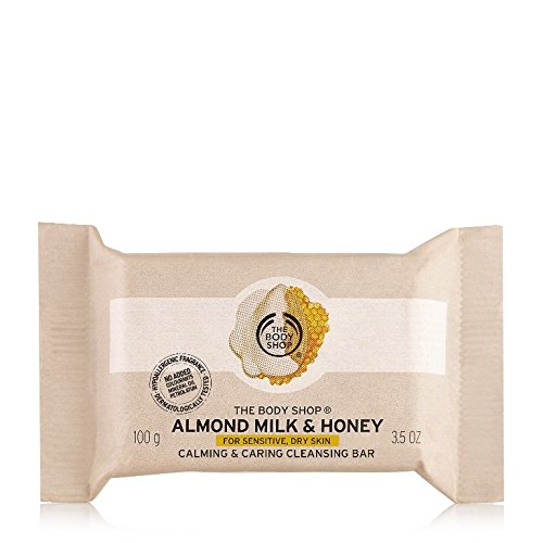 The Body Shop Almond Milk & Honey Soap Bar, Cleansing Bar Soap for Sensitive, Dry Skin, 3.5 oz.