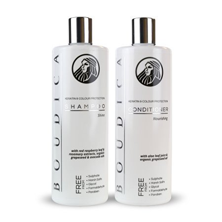 Boudica Shine Sulfate Free Shampoo & Boudica Nourishing Conditioner - Sulfate Free - Large Bottles