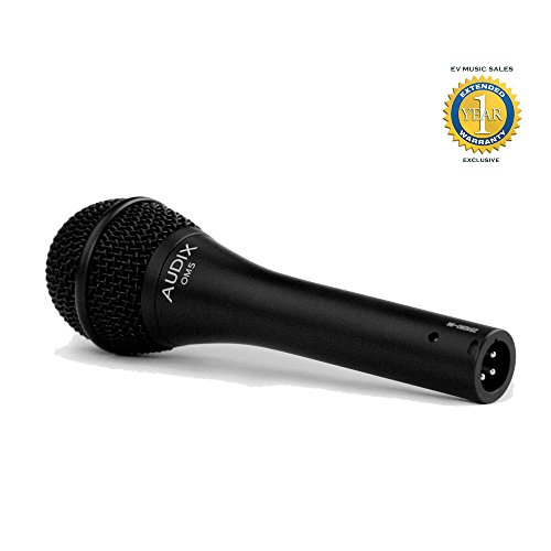 Audix OM5 Dynamic Hypercardioid Microphone with 1 Year Free Extended Warranty by Audix