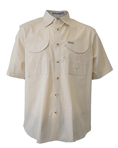 Tiger Hill Men's Fishing Shirt Short Sleeves Sand 5XL