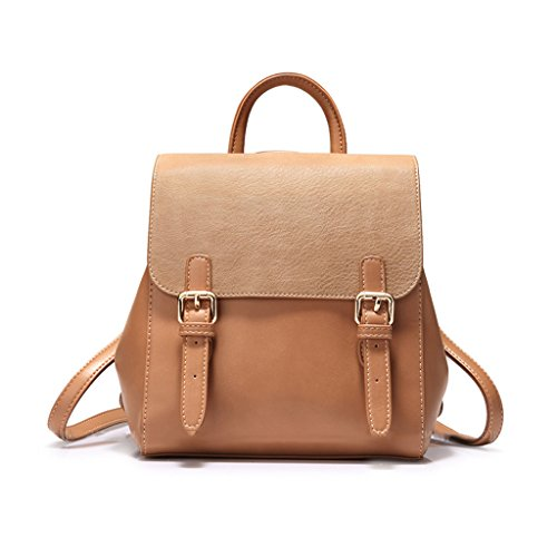 Jiute Backpack Retro Leather Bag Lady Pu