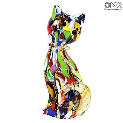 Original Murano Glass OMG Cat Figurine - Murano Glass Handmade