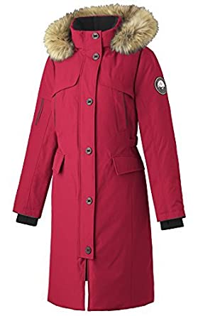 8ca61ca4ddf2 Amazon.com: Alpinetek Women's Long Down Parka Coat (Medium, Red): Clothing