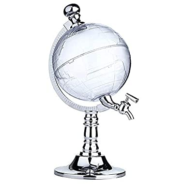 Globe Style Liquor Decanter for Beer Mini Bar Accessories 52 OZ Liquid Drinking Separate Wine Tools Inverted Wine Rack Water Pump Dispenser Machine By OAKZIP