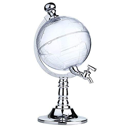 Globe Style Liquor Decanter for Beer Mini Bar Accessories 52 OZ Liquid Drinking Separate Wine Tools Inverted Wine Rack Water Pump Dispenser Machine By OAKZIP by OAKZIP (Image #9)