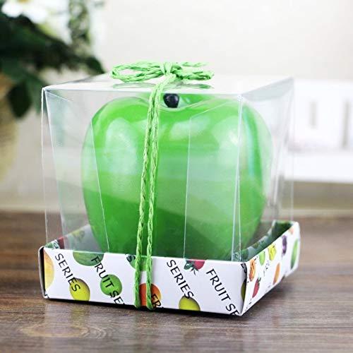 M Migvela Pomme Verte en Forme de Fruit Bougie parfum/ée d/écoration de la Maison de no/ël Bougie Anniversaire Bougie Lampe Bougie en Cire de Paraffine Vert