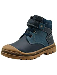 Apakowa Kids Autumn Winter Waterproof Boys Boots (Toddler/Little Kid)