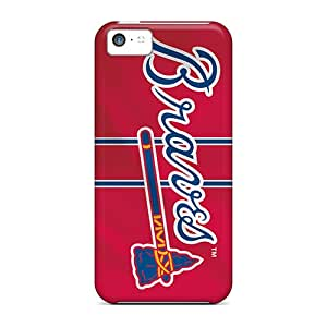 Deeck Inf2077cMQY Case Cover Iphone 5c Protective Case Atlanta Braves