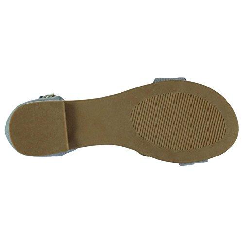 Miso Mujer Knotbow Sandalias Zapatos Deporte Entrenar Casual Verano Azul Cambray1 6 (39)