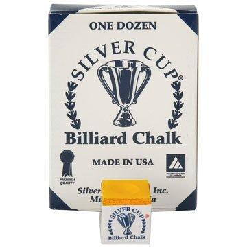Tiza billar silver cup naranja 12 unid