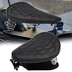 """Specifications: Condition: 100% Brand New Seat Size: 12"""" x 8.85""""/31cm x 22.5cm Seat Color: Black Leather With Black Stitching Seat Material: Black leather and the neoprene foam Bracket Material: Heavy duty Steel Fitment: Universal fit most of..."""