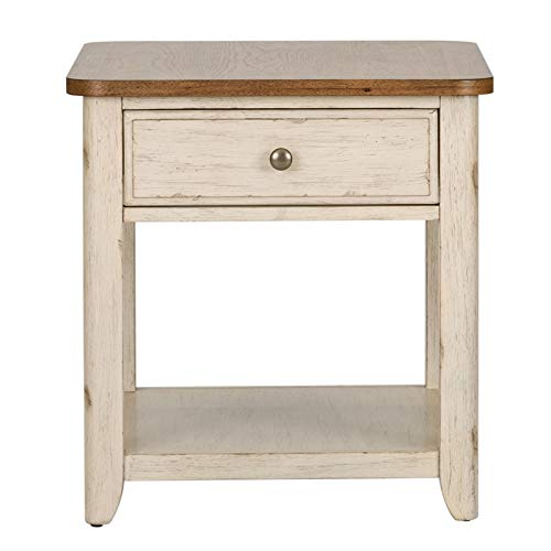 Liberty Furniture Farmhouse Reimagined End Table with Basket
