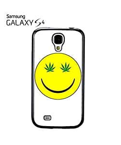 Weed Cannabis Smiley High Mobile Cell Phone Case Samsung Galaxy S4 Black