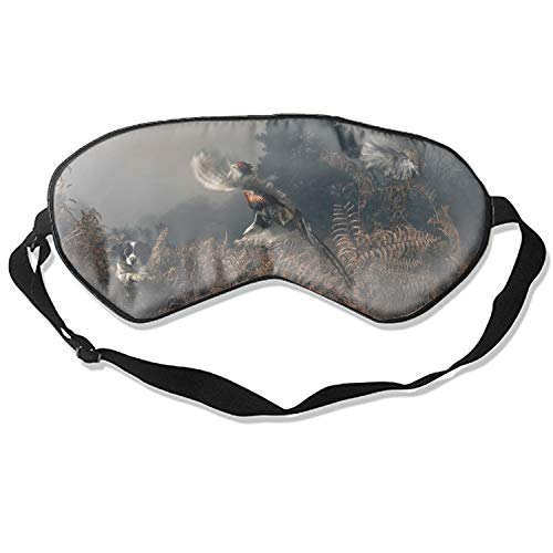 Pheasant Sleeping Mask Silk Eye Mask with Adjustable Straps Out for Sleep Travel Nap