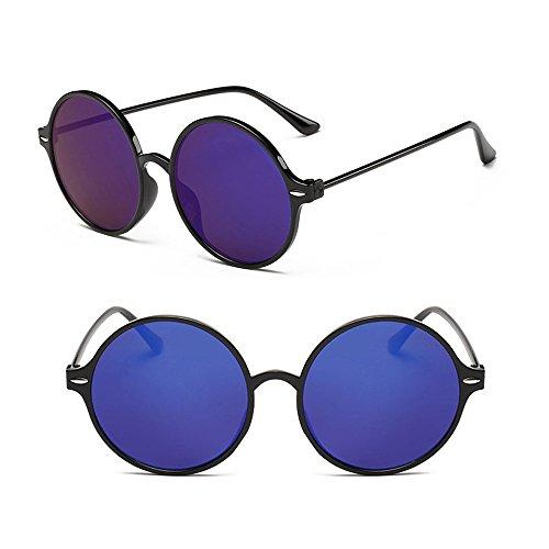 Joker Hommes de Vintage Bleu soleil Lunettes BOZEVON Mercure rondes Brillant et Fashion Noir Femmes taxqI0