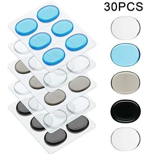30 Pieces Drum Dampeners Gel Pads Silicone Drum Silencers Dampening Gel Pads Non-toxic Soft Drum Dampeners for Drums Tone Control (Size Set 1, Color Set 1)