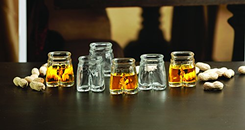 Glassware Drinkware Barware Whiskey Scotch Drinking Glasses//cups 66991 By Circleware Glass Shot Glasses Set 1.5 Ounce Each Fun Clear Pants Shaped Glasses Set of 6