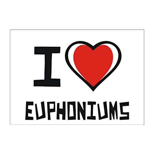 Teeburon I love Euphoniums Pack of 4 Stickers