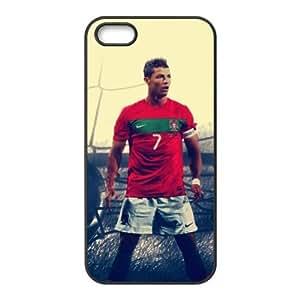 The Football Star Cristiano Ronaldo for Apple iPhone 5/5S Black Case Hardcore-4