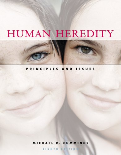 Human Heredity: Principles and Issues (Available Titles CengageNOW)
