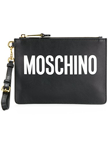 Pochette A841580011555 Femme Cuir Noir MOSCHINO aB7qY7