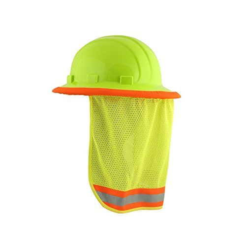 3/PACK - Neck Sun Shield For Hard Hats Hi Visibility Mesh - Hi Viz (Lime Shield)