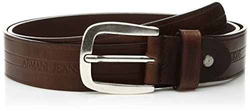 Armani Jeans Men's Pull Up Leather Belt, Brown, One Size (Armani Jeans Leather Belt)