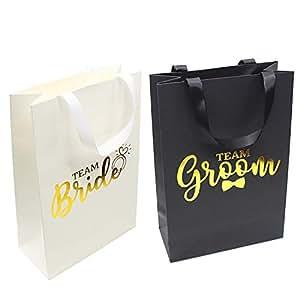 Amazon.com: Bolsas de regalo para damas de honor, 6 bolsas ...