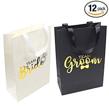 Amazon.com: Bolsas de regalo para damas de honor, 6 bolsas ...