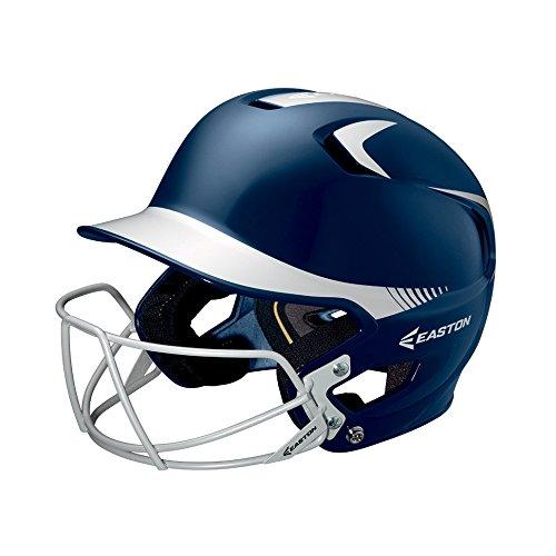 Easton Junior Z5 2Tone Batters Helmet with BBSB Mask, (Silver Baseball Batting Helmet)