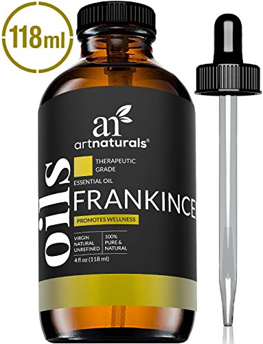 ArtNaturals Frankincense Essential Oil 4oz - 100% Pure Oils Natural Undiluted Therapeutic Grade - Premium Aromatherapy Quality Oil, Aromatherapy & Diffuser - 120ml Large Glass Bottle w/Dropper