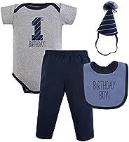 Hudson baby Baby-Girls | Unisex-Baby Birthday Boxed Giftset Layette Set