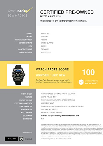 Breitling Cockpit swiss-quartz mens Watch VB5010 (Certified Pre-owned) by Breitling (Image #5)