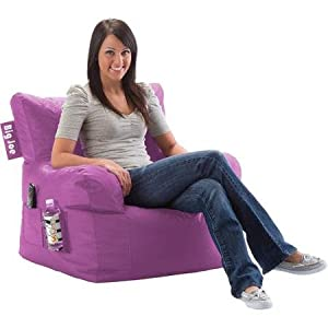 Big Joe Bean Bag Chair Radiant Orchid Suited for the Bedroom, Dorm Room or in Front of the Tv