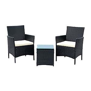 Amazon.com : EBS 3 Piece Patio Rattan Furniture Set ...