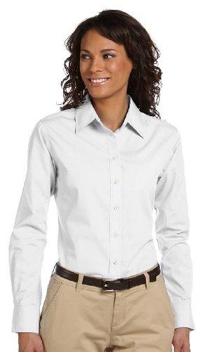 Harriton Ladies' 3.1 oz. Essential Poplin Shirt-M (White)