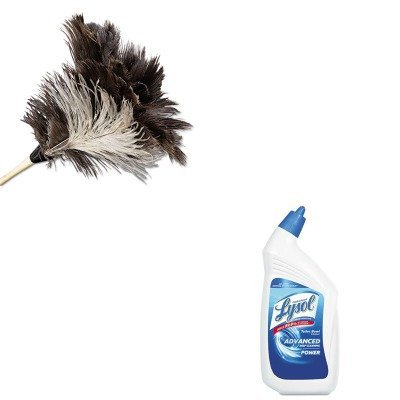 KITRAC74278CTUNS13FD - Value Kit - Economy Ostrich Feather Duster, 13quot; (UNS13FD) and Professional LYSOL Brand Disinfectant Toilet Bowl Cleaner (RAC74278CT) (Economy Ostrich Feather Duster)