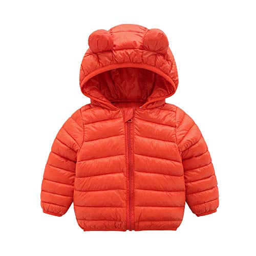 - CECORC Winter Coats for Kids with Hoods (Padded) Light Puffer Jacket for Outdoor Warmth, Travel, Snow Play | Little Girls, Little Boys | Baby, Toddlers, 4T (120), Orange