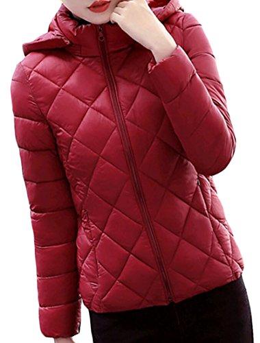 Coat amp;S Down Sleeve 4 Women's amp;W Long Slim XS Short Fashion M Hooded Rgwvdq1xR6
