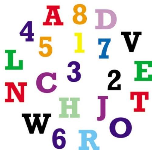 FMM Upper Case Block Alphabet & Number Tappit Cutters Set Alphabet Set Block