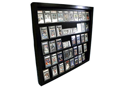 (Sports Card Display Case for 50 PSA Graded Cards Deep Beckett)