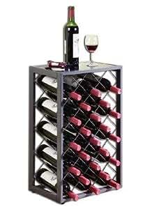 23 Estante Para Vino con Tapa de Vidrio, Estaño