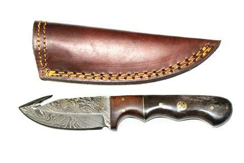 Titan International Knife Damascus Steel Skinning and Gutting Knife