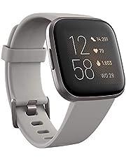Ga voor een gezond en actief leven met Fitbit Versa 2, de premium smartwatch met spraakbediening, slaapscore, fitnessfuncties, apps en meer.