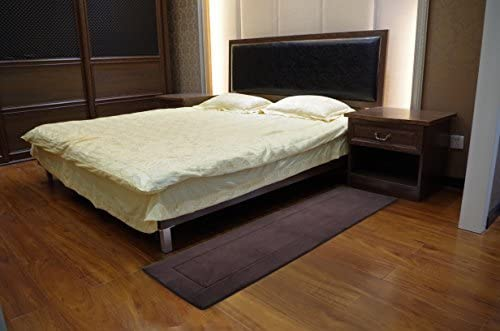 Fabbrica Home Ultra-Soft HD Memory Foam Runner Coffee Brown 2 feet by 7.5 feet