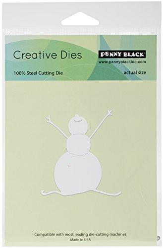 Penny Black 51-272 Creative Die Metal Die, 51-272,Snowman Joy