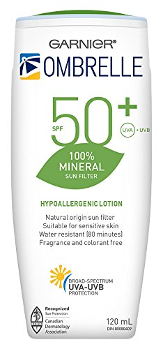 Ombrelle 100% Mineral Body Sunscreen Spf 50+, 120ml, Scent Free, 0.16 Kg L' Oreal