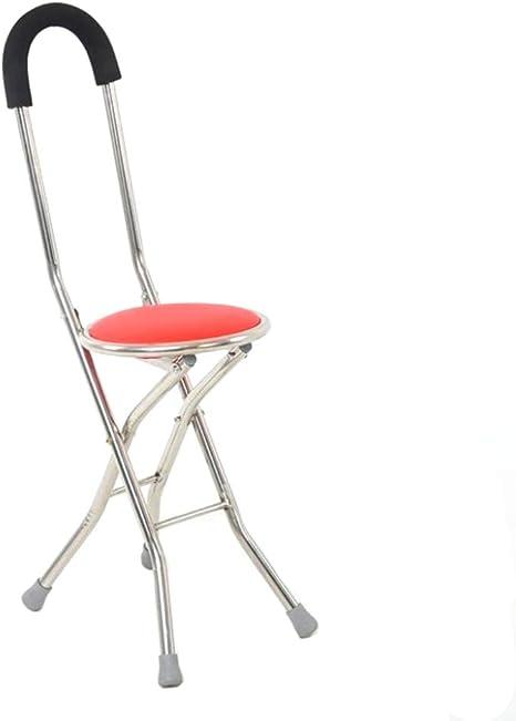 Bastón Plegable, sillas Plegables portátiles con Taburete