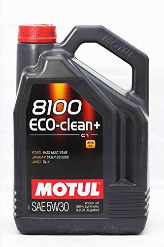 Motul 101584 8100 ECO-Clean+ 5W30 Factory Approved 100% Synthetic Engine Oils, 5L, 169.05 Fluid_Ounces
