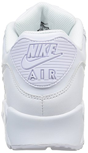 Nike Men's Air Max 90 Leather Fitness Shoes White (True White/True White 113) tiQk0